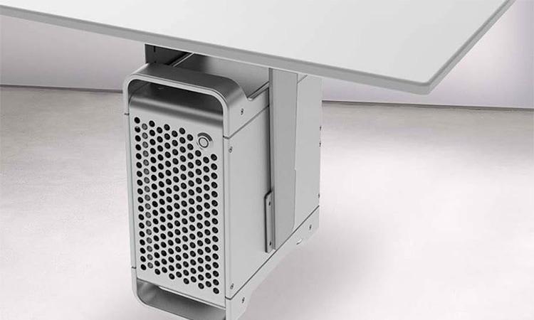height adjustable desk cpu holder