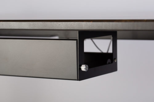 Blackwash bamboo flat back edge for easy application of monitor stands & screens